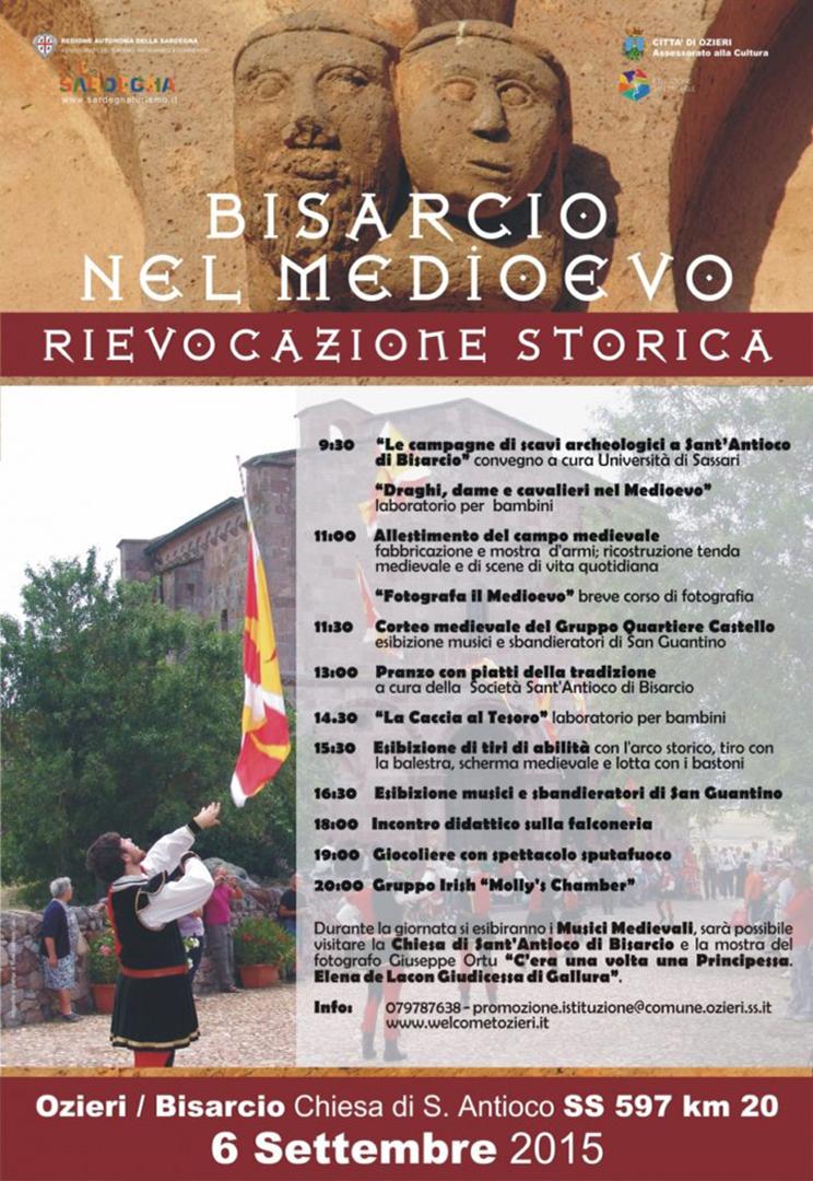 Locandina rievocazione storica Bisarcio nel Medioevo 6 Settembre 2015