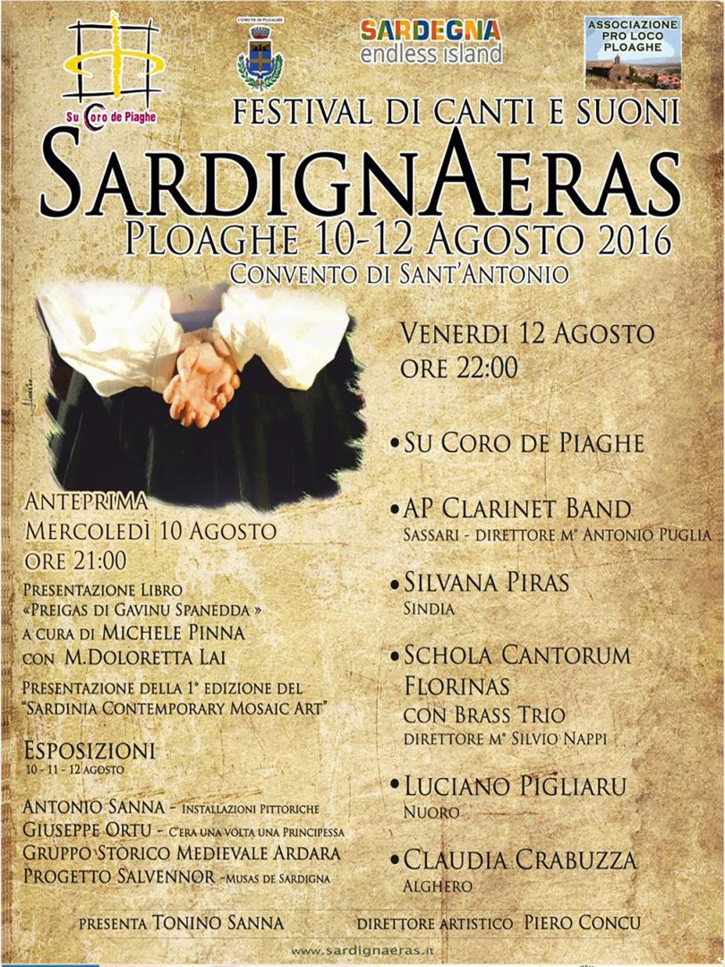 Festival di canti e suoni SardignAreas Ploaghe 10-12 Agosto 2016